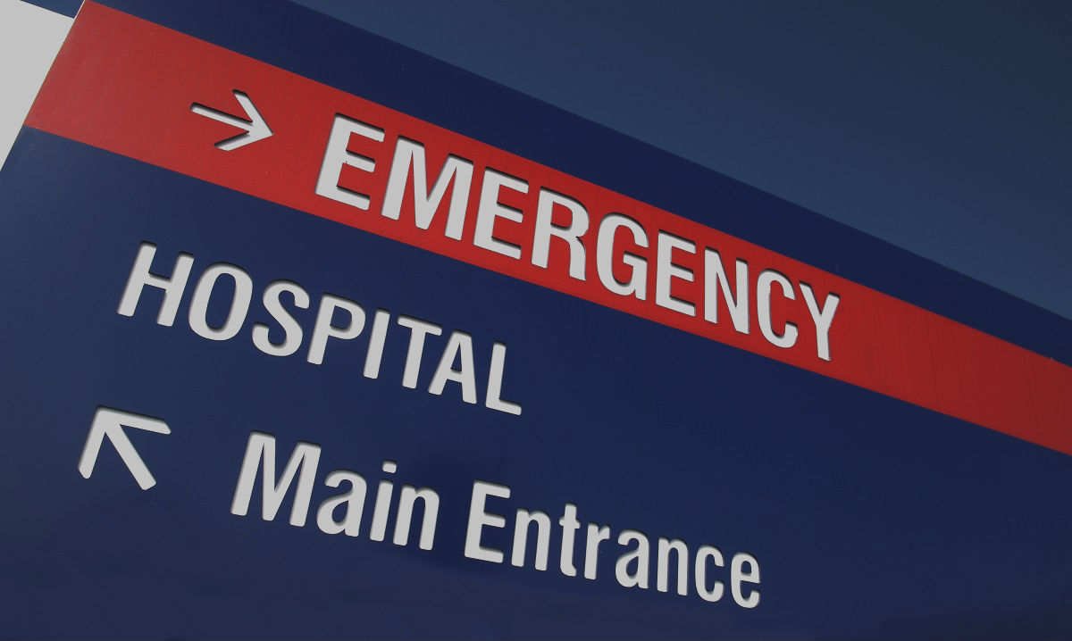 Accident and emergency hospital sign