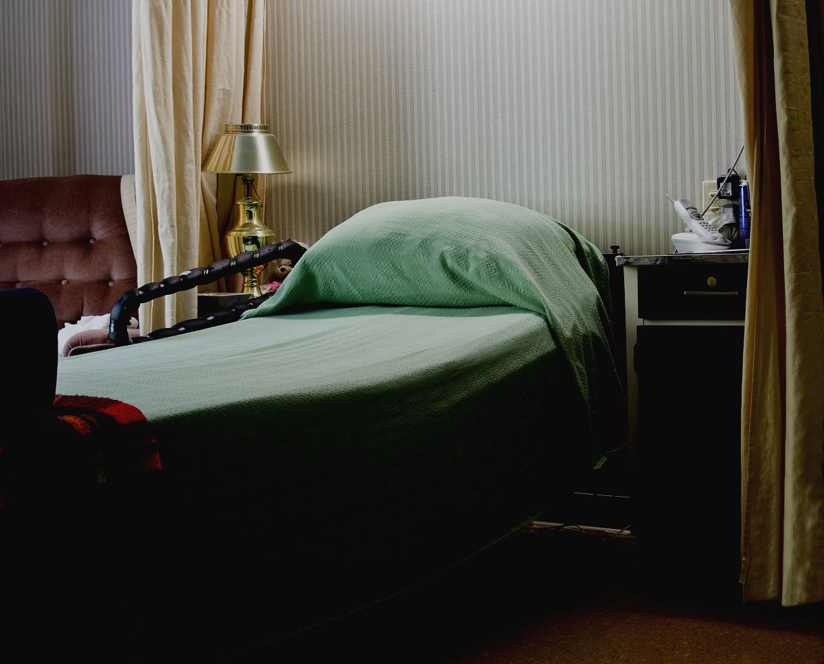 an empty care home bed following the death of an elderly resident